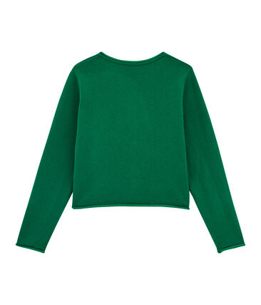 Cardigan tricot bambina verde Ecology