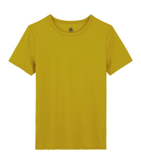 T-shirt in cotone Sea Island donna giallo Bamboo