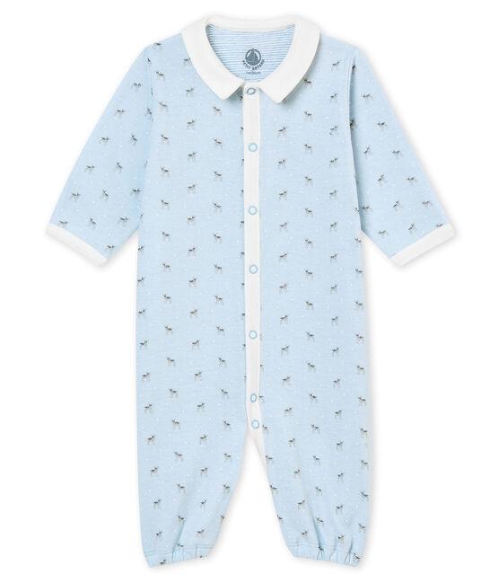 Combisac stampato per bebé maschio in tubique blu Fraicheur / bianco Multico