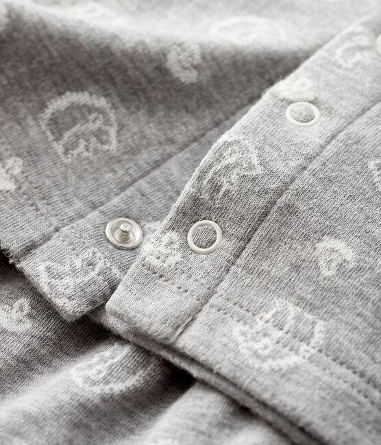 Completo 2 pezzi da neonato jacquard in tubique grigio Subway / bianco Marshmallow