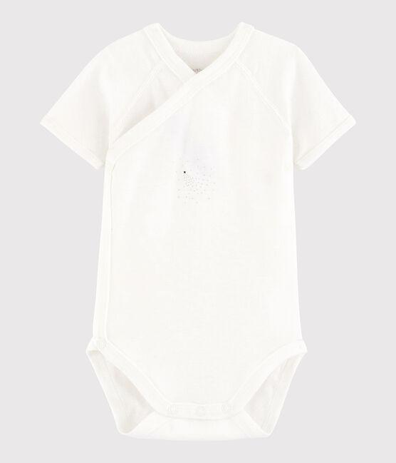 Body incrociato a manica corta bebè unisex MARSHMALLOW/FILANTINE