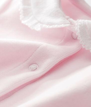 Tutina in ciniglia tinta unita per bebé femmina