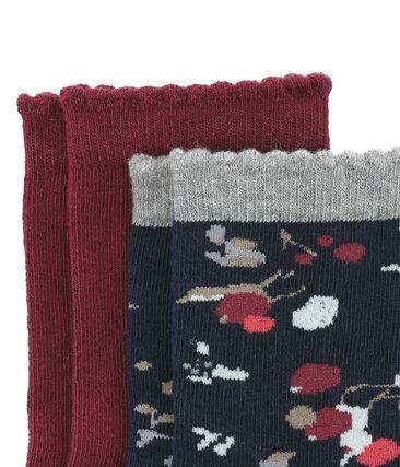 Lotto di 2 paia di calze colorate e con stampa floreale lotto .