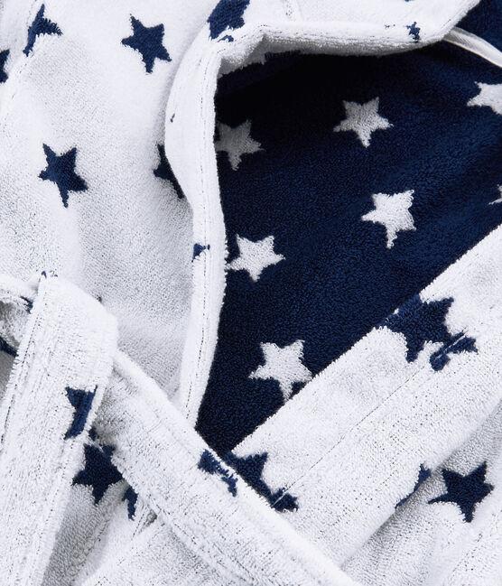 Accappatoio bambino in spugna bianco Marshmallow / blu Medieval