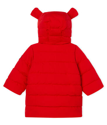 Piumino bebè femmina in microfibra rosso Terkuit