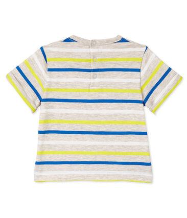 T-shirt per bebè maschio a righe beige Creamy / bianco Multico