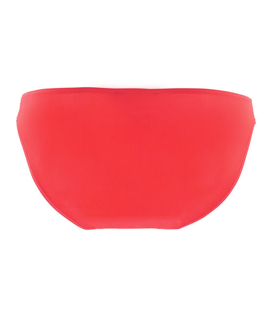 Slip costume da bagno tinta unita donna rosa Groseiller