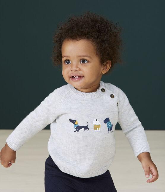 Pull con fantasia bebè maschio grigio Beluga