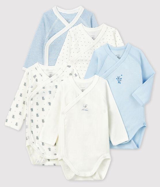 Confezione da 5 body nascita a maniche lunghe neonato lotto .