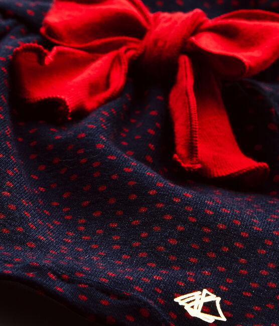 Abito bebé bambina stampato blu Smoking / rosso Terkuit