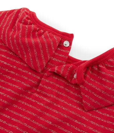 T-shirt maniche lunghe bambino rosso Terkuit / giallo Or