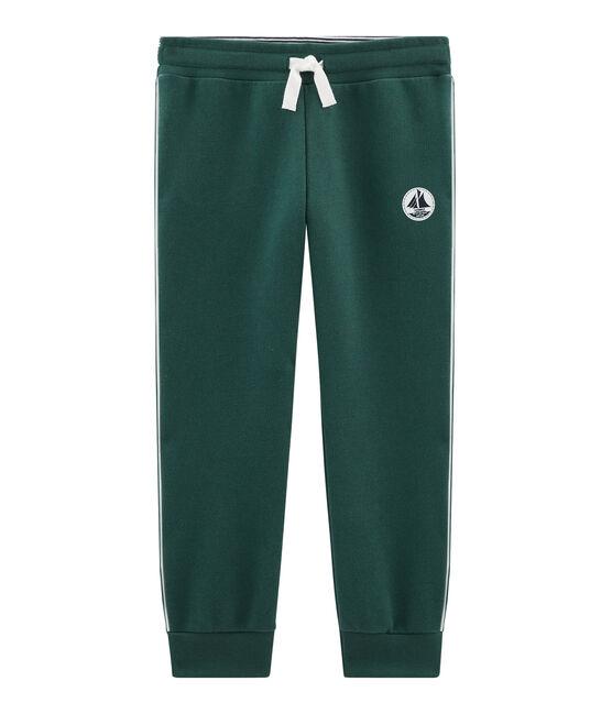 Pantalone bambino in molleton verde Sousbois