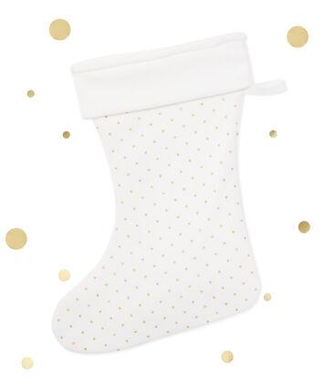 Calzine di Natale per bambina bianco Lait / giallo Or