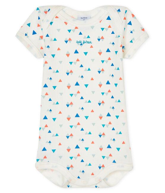 Body manica corta bebè maschietto-bambina bianco Marshmallow / bianco Multico