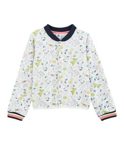Cardigan bambina bianco Marshmallow / bianco Multico