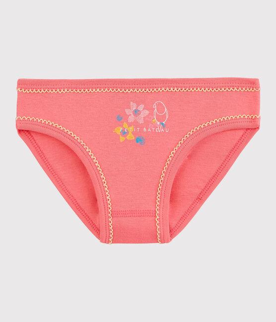 La mutandina in cotone per bambina rosa Cupcake