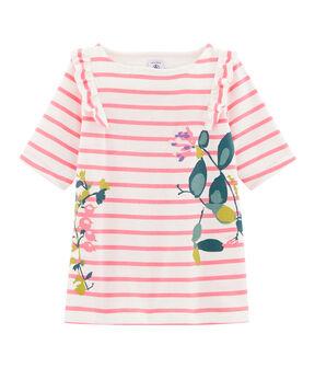 T-shirt bambina bianco Marshmallow / rosa Cupcake