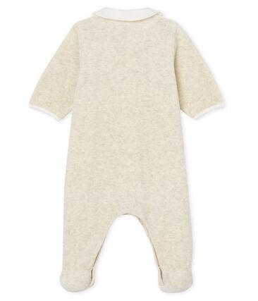 Tutina pigiama e bavaglino bebè unisex in velluto di cotone