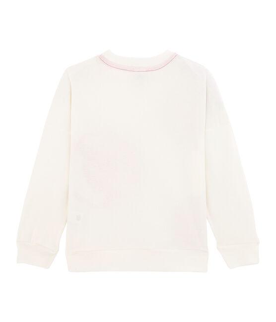Felpa bambino - bambina bianco Marshmallow / rosa Geisha