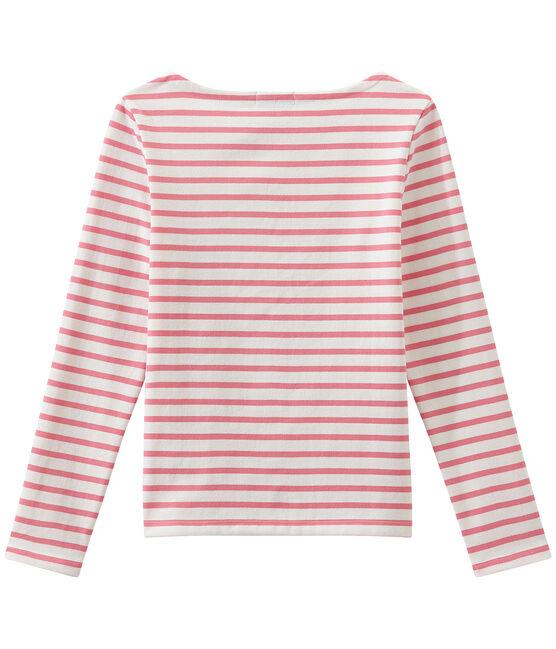 Mariniere iconica bianco Marshmallow / rosa Petal