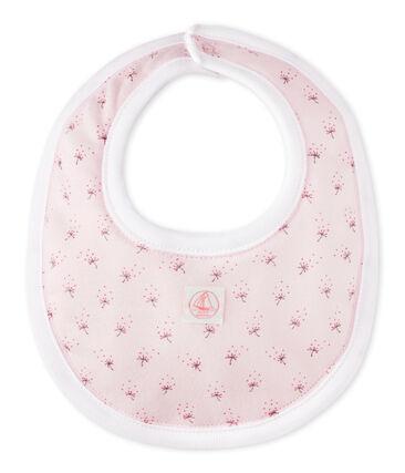 Bavaglino bebé unisex stampato rosa Vienne / bianco Multico