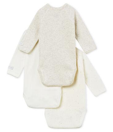 Confezione da 3 body nascita manica lunga bebè unisex