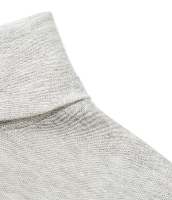 Dolcevita donna in cotone leggero grigio Beluga Chine