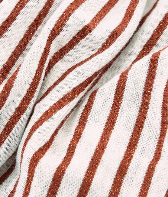 Sciarpa donna in lino cangiante bianco Marshmallow / rosa Copper