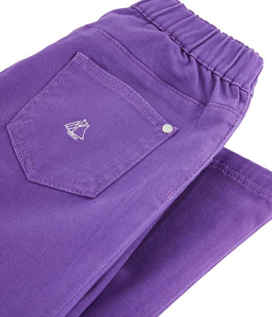 Jeans slim stretch bambina viola Real