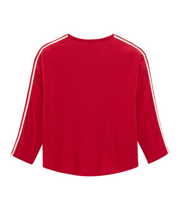 T-shirt maniche lunghe rosso Terkuit