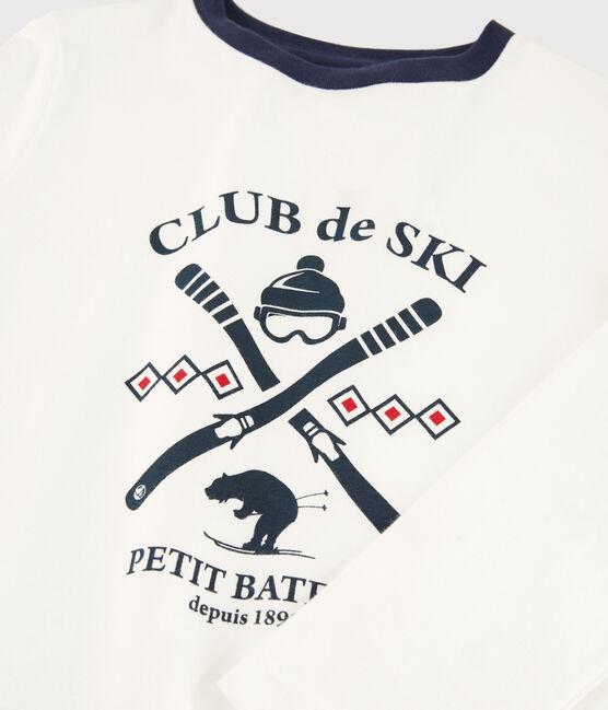 T-shirt serigrafata bambino bianco Marshmallow