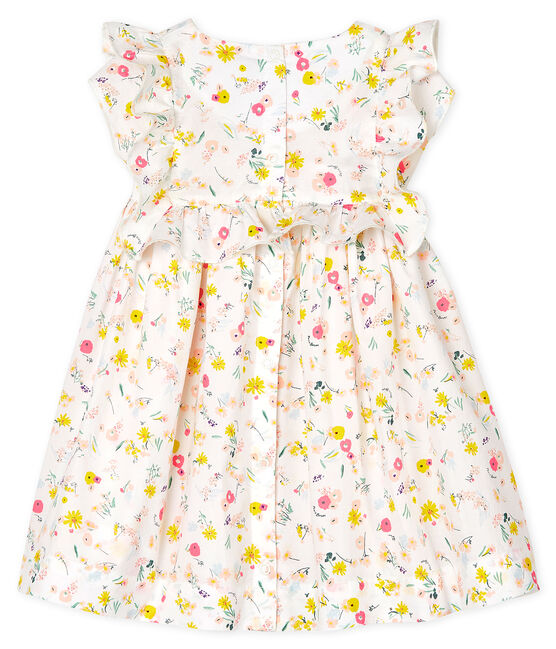 Abito manica corta bebè femmina fantasia bianco Marshmallow / bianco Multico