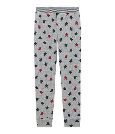 Pantalone per pigiama bambino grigio Subway / bianco Multico