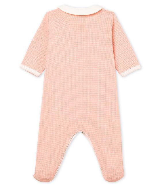 Tutina pigiama bambina a costine rosa Rosako / bianco Marshmallow