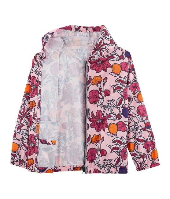 Giacca a vento con protezione UV UPF 50+ da bambina rosa Patience / bianco Multico