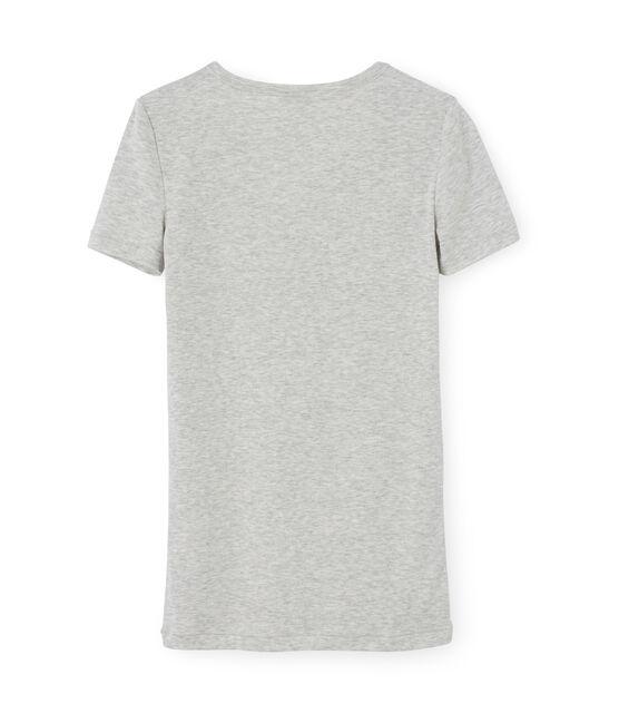 T-shirt iconica donna grigio Beluga