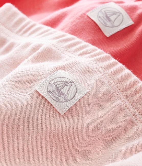 Lotto di due leggings bebé unisex a costina 1x1 grattata tinta unita lotto .