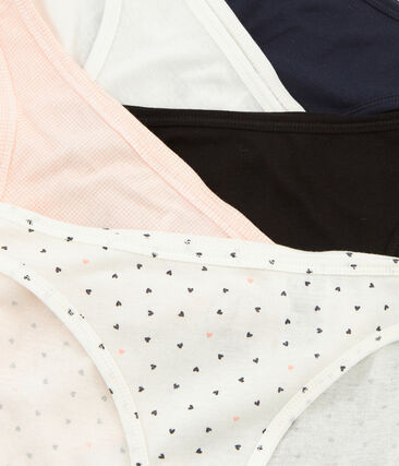 Lotto di 5 slip donna in cotone leggero