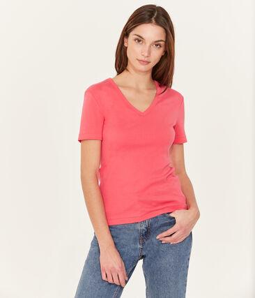 T-shirt maniche corte scollo a V donna