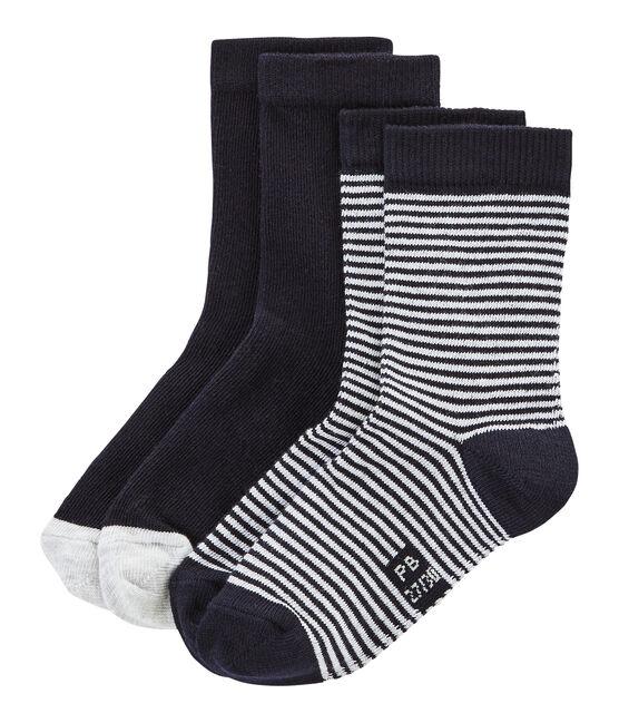 Confezione da 2 paia di calzini bambino unisex lotto .