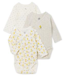 Trio di body nascita manica lunga bebè maschio lotto .