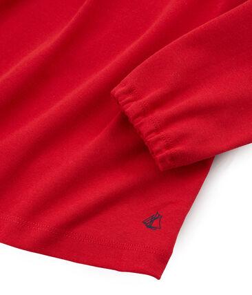 T-shirt maniche lunghe bambina rosso Terkuit