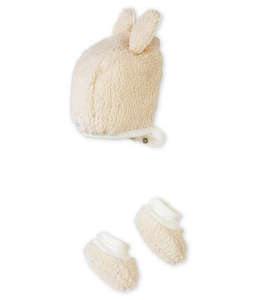 Lotto cuffietta e scarpine per bebé unisex bianco Marshmallow