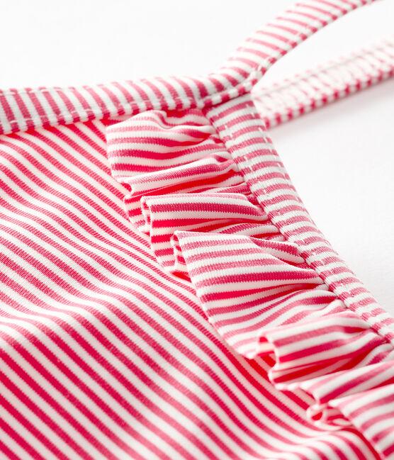 Costume intero UPF 50+ bimba rosa Geisha / bianco Marshmallow