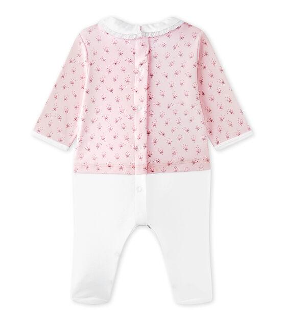 Tutina per bebé femmina doppio tessuto rosa Vienne / bianco Multico