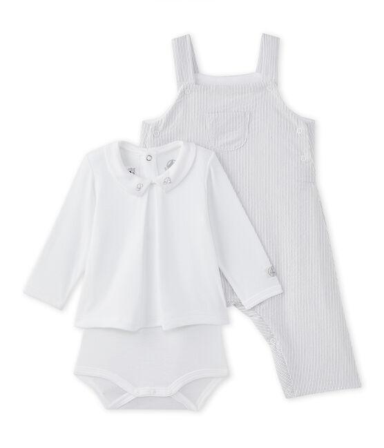 Coordinato per bebé maschio 2 pezzi bianco Ecume / beige Beige