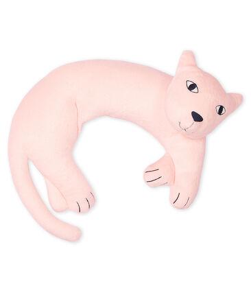 Cuscino pantera in ciniglia rosa Minois