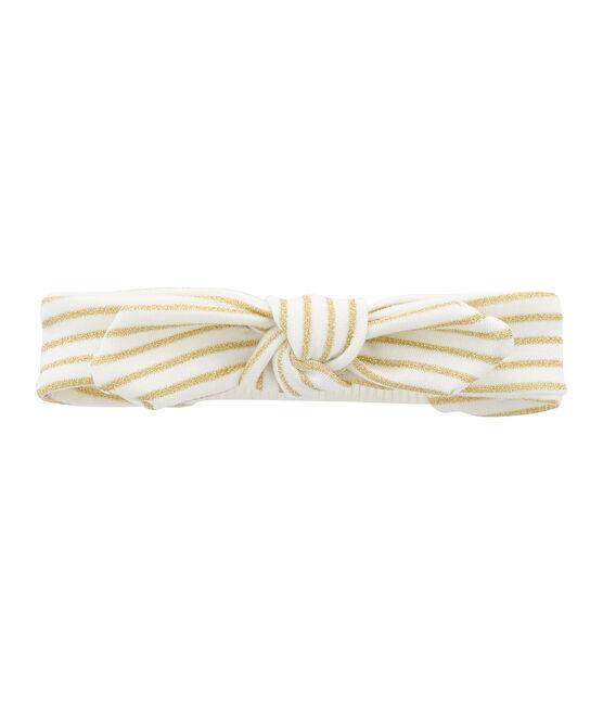 Fascia bambina bianco Marshmallow / giallo Or