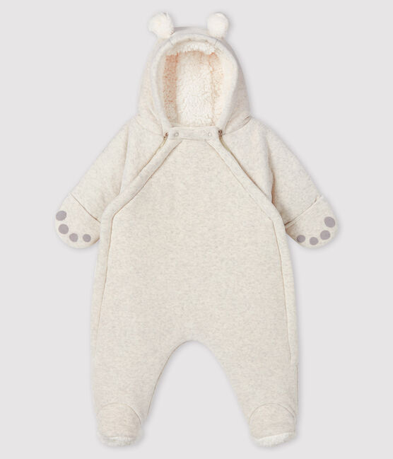 Tuta imbottita orso neonato in velluto grigio Montelimar Chine