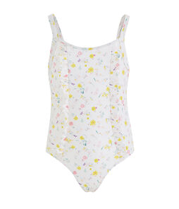 Costume intero bambina UPF 50+ bianco Marshmallow / bianco Multico